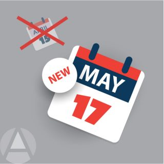 The IRS extended the date to file our personal income taxes from April 15 to May 17, 2021.