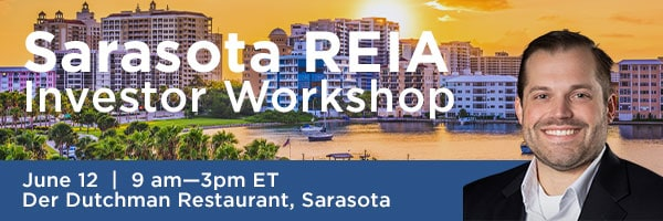 Interested in real estate investments? Alex Perny is a guest at the Sarasota REIA investor workshop
