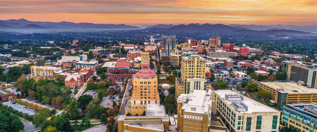 Asheville NC skyline
